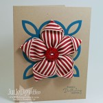 Ribbon Flower Pin Card
