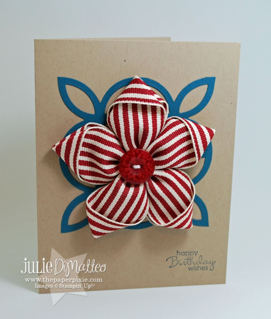Ribbon Flower Pin Card The Paper Pixie