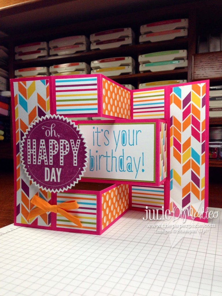 Todayu0027s Card Is Another Fancy Fold Card For You Called The Tri Fold  Shutter. How Cool Is This Card?!? I Love How It Stands Up And Can Be Put On  Display ...