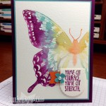 Watercolor Swallowtail Card