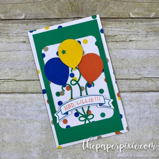 Birthday Party Favor - Envelope Style