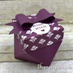 Diamond Box using Gift Bag Punch Board with Video Tutorial