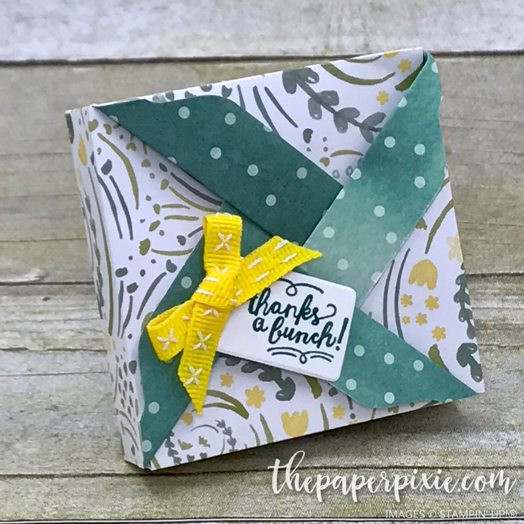 how to make a box with envelope punch board