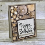 Wood Textures Happy Birthday