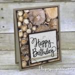 Wood Textures Happy Birthday