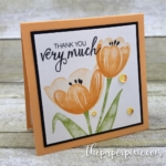Bunch of Tranquil Tulips Mini Card