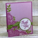 Christmas in July & Petal Garden Thank You Card
