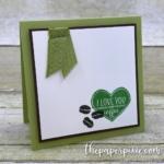 I Love You and Coffee Mini Card