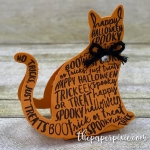 Spooky Cat Hershey's Kiss Treat Holder with Video Tutorial