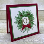 Painted Harvest Holiday Wreath Mini Card