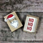 Santa's Suit Mini Matchbox Card