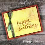 Watercolor Words Birthday with Painted Autumn