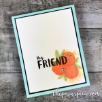 Orange Blossom Just Because Card