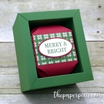 Christmas Ornament with Shadow Box – Video Tutorial!