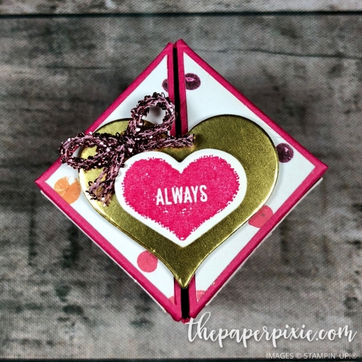 Winged-Lid Valentine\'s Box with Video Tutorial - The Paper Pixie