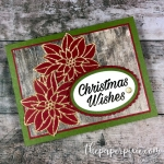 Peaceful Poinsettia Christmas Wishes