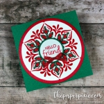 Happiness Surrounds Snowflake Mini Card