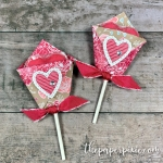 Diaper Fold Valentine's Lollipop Cover!