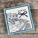 By the Bay Mini Thank You Card
