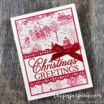 Toile Tidings – Greatest Part of Christmas