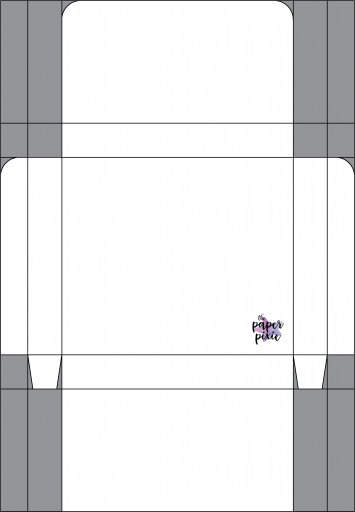 This is a template created by the Paper Pixie to go along with the video tutorial to assist you in making the Follow Your Art Stampin' Pad Gift Box.