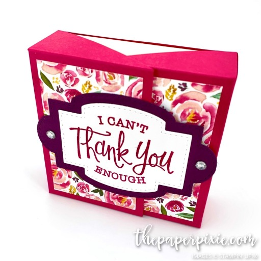 This is a handmade double flip top box craft project created by the Paper Pixie using Stampin' Up! supplies.