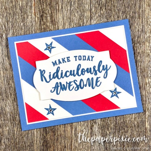 This is a handmade card stamped with the Ridiculously Awesome Stampin' Up! stamp set and the sentiment says make today ridiculously awesome.