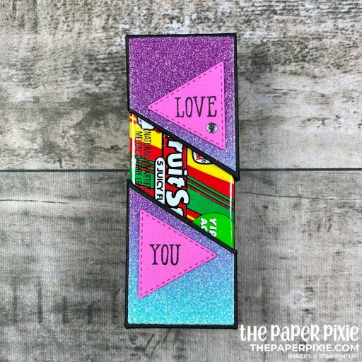 Craft project for pack of gum with a loving sentiment