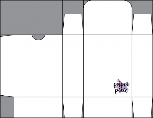 This is a template created by the Paper Pixie to go along with the video tutorial to assist you in making the Hippo Happiness Quarter Sheet Treat Box.