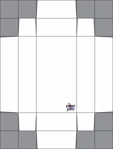 This is a template created by the Paper Pixie to go along with the video tutorial to assist you in making the Warm Hugs Gift Box.